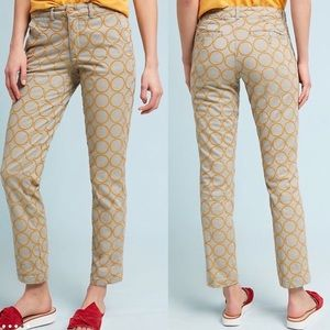 Anthropologie Embroidered Pants